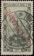 SAAR - Scott #O20a Market Fountain At St. Johann 'Overprinted' / Used Stamp - Used Stamps