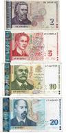 Bulgaria , Bulgarie , 2 Leva 2005 , 5 , 10 , 20 Leva 1999 , USED - Bulgarien