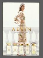 Carte  Publicitaire  Format Carte Postale - Advertising Card -  Aerin - Perfume Cards