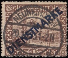 SAAR - Scott #O4 Cable Railway At Ferne 'Overprinted' (*) / Used Stamp - Used Stamps