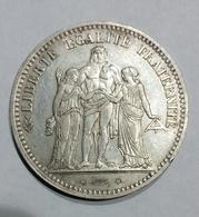 FRANCIA - FRANCE - 5 FRANCS ( 1873 ) A Paris / HERCULE (ARGENT SILVER) - Francia