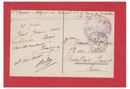 """FRANCE-1925-OCCUPATION DE LA RHENANIE-CAMP DE GRIESHEIM-CARTE EN FRANCHISE """" *CAMP DE GRIESHEIM* MAJOR DU CAMP"""". - Militaria"""