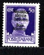 1943-44 Base Italienne De Bordeaux N°12 Neuf Avec Charnière - Guerres