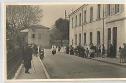 Carte Photo Procession Davant Asile - Cartes Postales