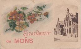 Litho CPA - AK Souvenir Mons Bergen Caserne Des Chasseurs A Cheval Militaire Militär Kaserne A Charleroi Hennegau - Mons