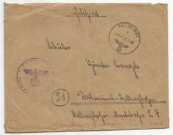H825 - FELDPOST N° 01249 C Du 29 Septembre 1944 Pour DORTMUND - - Allemagne