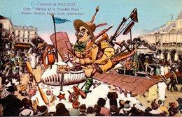 06. Carnaval De Nice XLIV. Char Marius Et La Planète Mars. Carte Illustrée - Carnevale