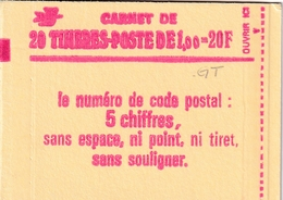 Carnet Sabine 20 TP à 1,00F - Usage Courant
