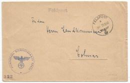 H827 - FELDPOST N° 04538 Du 22 Décembre 1940 Pour COLMAR En ALSACE - - Allemagne