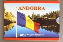 Andorra, Kursmünzensatz 2001 Incl. 2 X 1 Euro, 2003, Unzirkuliert / Unc - Andorra