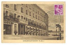 CHALON SUR SAONE - Royal Hotel - Cachet Postal Du Salon De La Manutention - PUTEAUX   (111674) - Chalon Sur Saone