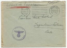 H829 - FELDPOST N° 23494 De WIEN Du 31 Aout 1943 Pour INGERSHEIM En ALSACE - - Allemagne
