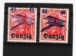 AUA1360 DANZIG 1920 MICHL 50 FETTER Und DÜNNER DRUCK+ ABKLATSCH (*) FALZ  SIEHE ABBILDUNG - Danzig