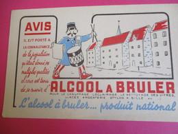 Buvard/ Produit D'entretien/ Alcool à Brûler/ Produit National / Il Est Porté à La Connaissance /Vers 1945-1960   BUV361 - Wassen En Poetsen