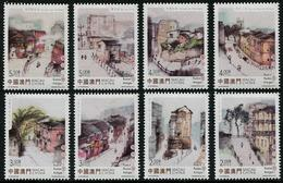 Macau/Macao 2015 Old Streets And Alleys (Definitive Stamps) 8v MNH - 1999-... Chinese Admnistrative Region