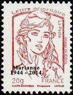 France Marianne De La Jeunesse Par Ciappa Et Kawena N° 4767_bc ** TVP Rouge 20g. Typographie Sans Phosphore Surchargé - 2013-... Marianne De Ciappa-Kawena