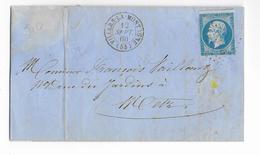 1860 - MOSELLE - LETTRE De VILLERS LA MONTAGNE Avec PC 3635 - IND 10 - 1849-1876: Classic Period