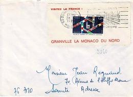 TP N° 2050 Seul Sur Enveloppe De Donville/Mer Avec Pub Granville - 1961-....