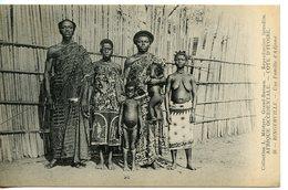 671. CPA AFRIQUE OCCIDENTALE. CÔTE D'IVOIRE. BINGERVILLE. UNE FAMILLE D'ADJAME. ECRITE DE BASSAM 1919 - Côte-d'Ivoire