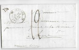 1843 - ARDENNES - LETTRE De RETHEL Avec T12 - 1801-1848: Precursors XIX