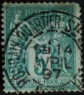 Sage N°75 Type Il O.(CAD) ROUBAIX Quartier Ste Elisabeth 14 Avril 1897. - 1876-1898 Sage (Type II)