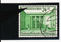 """AUA1355 DEUTSCHES REICH 1940 MICHL 743 PLATTENFEHLER FARBFLECK über """"u"""" Used / Gestempelt - Abarten"""