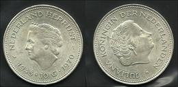 Niederlande 1970, Hirrijst 1945/1970, Silber 10 Gulden - Münzen