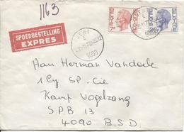 2806/ TP 1582-1587 Baudouin Elström S/L.Exprès C.Gent 30/11/73 V.Kamp Vogelzang C.Post 13 & Post X1 1/12/73 - Marcophilie