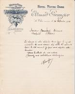 84 LE THOR Près L' ISLE SUR LA SORGUE COURRIER 1910  HOTEL NOTRE DAME  Raisins GRANGIER -- X30 Vaucluse - France