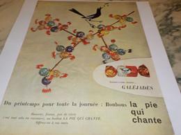 ANCIENNE PUBLICITE BONBON LA PIE QUI CHANTE 1960 - Affiches
