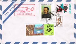 Argentina 1975 - Postal Cover Buenos Aires - Paris - Argentine
