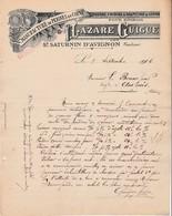 84 ST SATURNIN D' AVIGNON COURRIER 1906 Manufactuire De Peignes En Corne LAZARE GUIGUE - X30 Vaucluse Saint - France