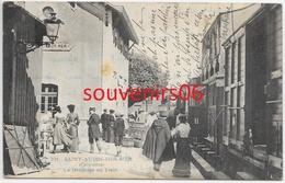14 - Saint Aubin Sur Mer - La Descente Du Train (plan Animé Et Rapproché) Ecrite - Saint Aubin