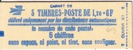 Carnet Sabine 5 TP à 1,00F - Usage Courant