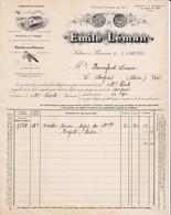 """13 SALON DE PROVENCE FACTURE 1923 Huiles D' Olives Savons Marque """" Le Coucou """" Emile LEMAN  X30 Bouches Du Rhone - France"""