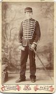 REGIMENT De CHASSEUR à CHEVAL - CDV - Par A. Prouzet, Photographie à Paris - Fin XIXe - A Voir ! - Guerre, Militaire