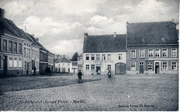 Nederbrakel - Grand'Place - Markt - 't Vlaamsch Bierhuis - Paardenstal - 1907 - Brakel