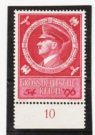 """AUA1351 DEUTSCHES REICH 1941 MICHL 887 Mit UNTERRANDZAHL """"10"""" ** Postfrisch - Deutschland"""