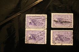 Canada 261 Artillery Munitions Used Four Copies Includes One Pair WYSIWYG 1942-43  A04s - 1937-1952 Reign Of George VI