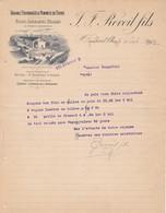 26 SAINT RAMBERT D' ALBON COURRIER 1907 Grains Fourrages  REVOIL X30 Drôme St - France
