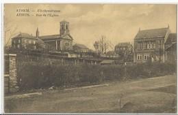 Athus: L'Eglise Et L'Ecole - Aubange
