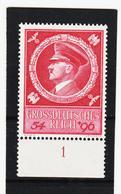 """AUA1352 DEUTSCHES REICH 1941 MICHL 887 Mit UNTERRANDZAHL """"1"""" ** Postfrisch - Deutschland"""