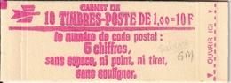 Carnet Sabine 10 TP à 1,00F - Usage Courant