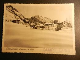 19885) VALLE D'AOSTA CHAMPORCHER D'INVERNO VIAGGIATA 1941 MOLTO BELLA - Italia