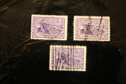 Canada 261 Artillery Munitions Used Three Copies WYSIWYG 1942-43  A04s - Used Stamps