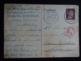 STO Carte 1944 Danzig Pessac Gironde Stalag Oflag Prisonnier De Guerre Pommern Polen Deutsches Reich - Historische Dokumente