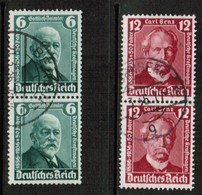 GERMANY  Scott # 470-1 VF USED PAIRS (Stamp Scan # 454) - Used Stamps