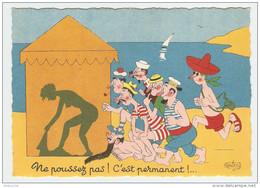 HUMOUR ILLUSTRATEUR DUBOUT NE POUSSEZ PAS - Éd. DU MOULIN 1958 N° 28 A - NON CIRCULÉE - 2 Scans - - Dubout