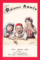 Illust-2069Ph103    CHAGNY, Bonne Année, Enfants Magrhébins, Cpa BE - Illustrateurs & Photographes