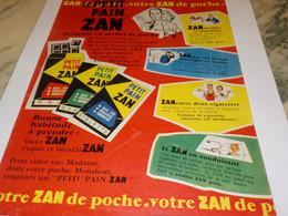 ANCIENNE PUBLICITE PETIT PAIN ZAN 1960 - Publicités